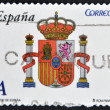 SPAIN - CIRCA 2009: A stamp printed in spain shows shield of Spain, circa 2009 — Stock Photo