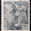 SPAIN - CIRCA 1940: stamp printed by Spain, shows Francisco Franco, circa 1940 — Stock Photo