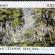"Stock Photo: FRANCE - CIRC2006: stamp printed in France shows painting ""Bathers"" by Paul Cezanne, circ2006"