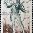 FRANCE - CIRCA 1950: a stamp printed in France shows image of Figaro, the literary character created by  Moliere, circa 1950 — Stock Photo