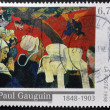 "Stock Photo: FRANCE - CIRC1998: stamp printed in France shows work ""Vision after Sermon"" by Paul Gauguin, circ1998"