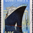 Stock Photo: FRANCE - CIRCA 2003: A stamp printed in France shows Queen Mary 2, circa 2003