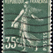 FRANCE - CIRCA 1906: stamp printed by France shows sowing, circa 1906 — Stock Photo