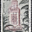 FRANCE - CIRCA 1960: A stamp printed in France, shows the Great Mosque of Tlemcen, circa 1960 — Stock Photo