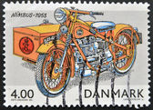 DENMARK - CIRCA 2002: A stamp printed in Denmark shows a motorcycle, nimbus 1953, circa 2002 — Stock Photo