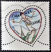 FRANCE - CIRCA 2003: A stamp printed in France shows a heart by Chanel, circa 2003 — 图库照片