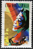 FRANCE - CIRCA 2002: A stamp printed in France shows Ella Fitzgerald, circa 2002 — Foto Stock
