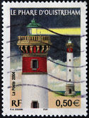 FRANCE - CIRCA 2004: A stamp printed in France shows the flagship ouistreham in the night, circa 2004 — Foto Stock