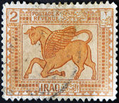IRAQ - CIRCA 1923: A stamp printed in Iraq shows Leaf — Stock Photo