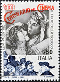 ITALY - CIRCA 1995: A stamp printed in Italy shows Rudolph Valentino in the film The Son of the Sheik, circa 1995 — Stock Photo