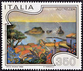 ITALY - CIRCA 1986: A stamp printed in Italy shows Acitrezza, circa 1985 — Stock Photo