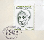 MEXICO - CIRCA 1981: A stamp printed in Mexico shows Pablo Picasso, circa 1981 — Stock Photo