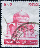 PAKISTAN - CIRCA 1979: A stamp printed in Pakistan shows image of mosque, circa 1979 — Stock Photo
