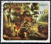 PANAMA - CIRCA 1967: A stamp printed in Panama shows a work by Delacroix, circa 1967 — Zdjęcie stockowe