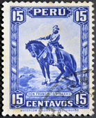 PERU - CIRCA 1935: A stamp printed in Peru shows Francisco Pizarro, circa 1935 — Stock Photo