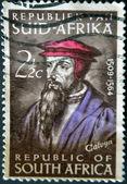 REPUBLIC OF SOUTH AFRICA - CIRCA 1964: A stamp printed in RSA shows John Calvin, circa 1964. — Stockfoto