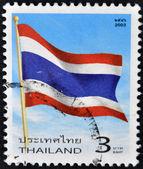 THAILAND - CIRCA 2003: A stamp printed in Thailand shows Thailand flag, circa 2003 — Stock Photo
