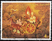 THAILAND - CIRCA 1998: A stamp printed in Thailand dedicated to visakhapuja day, circa 1998 — Stock Photo