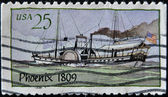 UNITED STATES - CIRCA 1989: A stamp printed in USA shows Steamboat, circa 1989 — Stock Photo