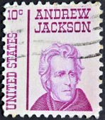 UNITED STATES - CIRCA 1965: stamp printedin USA shows Andrew Jackson, circa 1965 — Foto Stock