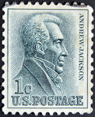 UNITED STATES - CIRCA 1962: A stamp printed in USA shows Andrew Jackson (1767-1845) - Seventh President, circa 1962 — Stock Photo