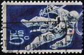 UNITED STATES - CIRCA 1962: stamp printed in USA shows Space Walking Astronaut, circa 1962 — Stock fotografie