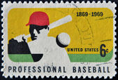UNITED STATES OF AMERICA - CIRCA 1969 : A stamp printed in USA dedicated to Professional Baseball, circa 1969 — Foto Stock