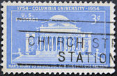 USA - CIRCA 1954 : stamp printed in USA shows Columbia University, circa 1954 — Foto Stock