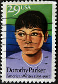 UNITED STATES OF AMERICA - CIRCA 1967 : stamp printed in USA show American writer Dorothy Parker, circa 1967 — Stockfoto