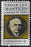 UNITED STATES - CIRCA 1970: stamp printed in USA shows Edgar Lee Masters, circa 1970 — Stock Photo
