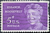 UNITED STATES - CIRCA 1963: A stamp printed in USA shows Anna Eleanor Roosevelt portrait (1884 - 1962), circa 1963 UNITED STATES - CIRCA 1963: A stamp printed in USA shows Anna Eleanor Roosevelt port — Stock Photo