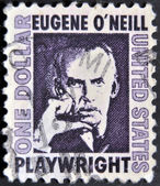 UNITED STATES OF AMERICA - CIRCA 1973: a stamp printed in the United States of America shows Eugene O´Neill, American playwright and Nobel laureate in Literature, circa 1973 — Stock Photo