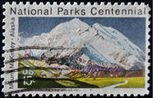 Stati uniti - intorno al 1972: francobollo stampato negli stati uniti mostra montagna mckinley in alaska, intorno al 1972 — Foto Stock