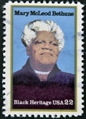 USA - CIRCA 2000 : stamp printed in USA shows Mary McLeod Bethune African-American educator and civil rights leader, circa 2000 — 图库照片