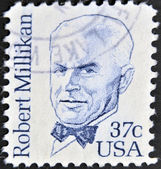 USA - CIRCA 1982 : stamp printed in the USA shows Robert Andrews Millikan American experimental physicist, circa 1982 — Stock Photo