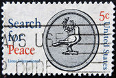 USA - CIRCA 1967: A stamp printed in USA shows a dove with the words Search — Stock Photo