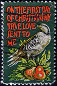 UNITED STATES - CIRCA 1971: stamp printed in USA shows partridge in a pear tree, circa 1971 — Stock Photo