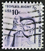 Spojené státy americké - cca 1975: razítka v usa ukazuje rozjímání o spravedlnosti (socha, j. e. fraser), cca 1975 — Stock fotografie