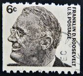 USA-CIRCA 1966:A stamp printed in USA shows image of the Franklin Delano Roosevelt, circa 1966. — Stock Photo