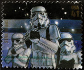 UNITED STATES - CIRCA 2007: stamp printed in USA shows Star Wars, Stormtrooper, circa 2007 — Stock Photo