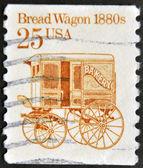 USA - CIRCA 1986: A stamp printed in the USA shows Bread Wagon 1880s, circa 1986 — Stock Photo