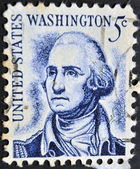 UNITED STATES OF AMERICA -CIRCA 1966: A stamp printed in USA shows image of the George Washington, circa 1966. — Stock Photo