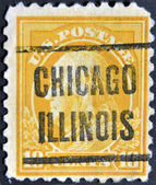 USA - CIRCA 1928: A stamp printed in USA shows President George Washington, circa 1928 — Stock Photo