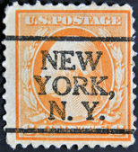 UNITED STATES OF AMERICA - CIRCA 1911: A stamp printed in USA shows George Washington, first president of USA, circa 1911 — Stock Photo