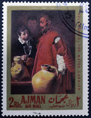 AJMAN - CIRCA 1968: A stamp printed in Ajman shows the — Stock fotografie
