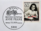 GERMANY- CIRCA 1979: stamp printed by Germany, shows Anne Frank, Nazi victim, circa 1979. — Стоковое фото