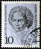 GERMANY - CIRCA 1970: A stamp printed in Germany show Ludwig van Beethoven, Composer, circa 1970 — Zdjęcie stockowe