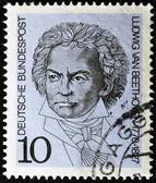 GERMANY - CIRCA 1970: A stamp printed in Germany show Ludwig van Beethoven, Composer, circa 1970 — Zdjęcie stockowe