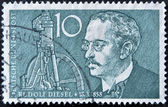 GERMANY - CIRCA 1958: A stamp printed in Germany shows Rudolf Diesel, circa 1958 — Stock Photo