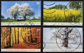 GERMANY - CIRCA 2006: stamp printed in Germany dedicated to the four seasons, circa 2006 — Stock Photo